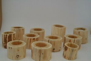 White Birch Reclaimed Wood Lot of 11 Tea Candle Holders Rustic Primitive Wedding
