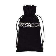 1pc Black Tarot Pouch Bag Case Drawstring Bag Tarot Cards Wicca Pagan Storage