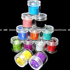 12 Glitter JUMBO Dust Powder LASER Nail Art Acrylic#31B