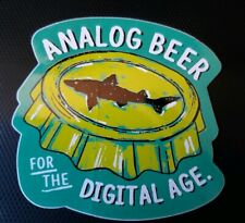 Dogfish Head Brewery ~ Craft beer sticker ~ Analog Beer for the Digital Age!
