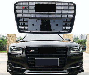 For Audi A8 D5 S8 STYLE Front Grille Upper black Honeycomb Radiator Grill 15-18