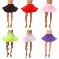 New Women Short Bridal Petticoat Tutu Skirt Underskirt Crinoline Wedding Dress