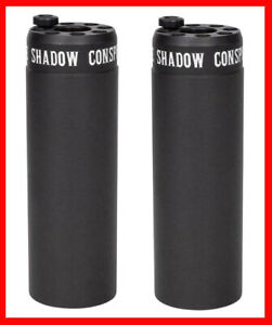 "2 x SHADOW CONSPIRACY LITTLE ONES BMX AXLE PEGS 4"" FITS ALL BIKES BLACK NEW"