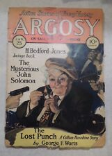 Vintage Pulp Argosy Weekly Volume 209 Number 5 January 25, 1930 H. Bedford-Jones