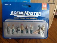 HO Scale Walthers SceneMaster 949-6018 Quarry Terminal Workers FIGURE Set (8)pcs