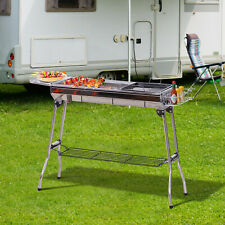 Outsunny Camp Picnic Cooker Charcoal BBQ Grill Stainless Steel
