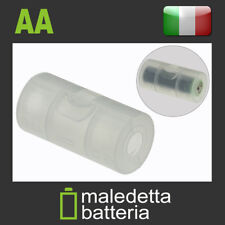 Adattatore per Pile trasforma Batteria AA Stilo a C mezza Torcia