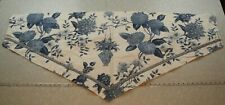 WASHED One Williamsburg Waverley Lightfoot House Valance Curtain Blue Floral