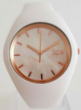Ice-Watch 016936 ICE pearl White Rosè Medium Uhr Damenuhr neu Silikon weiß 199