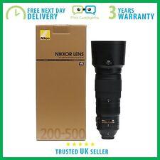 NEUF Nikon AF-S Nikkor 200-500 mm f/5.6 E ED VR Lens-Garantie 3 An F/5.6E