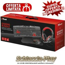 KIT TRUST 4 in 1 Tastiera Mouse Cuffie Tappetino Per Mouse Kit Gaming Trust 2231