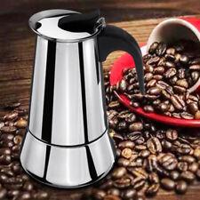 6 Tasses Acier Inoxydable Cuisinière Moka Machine à Café Expresso Pot Induction