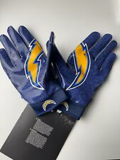 NIKE Superbad NFL Los Angeles Chargers  Receiver Football Gloves Magnigrip XL