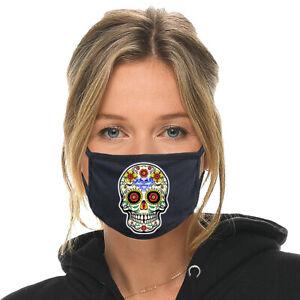 SUGAR SKULL Face Mask Fabric Cloth Cover Catrina Máscara Mascarilla Mexican