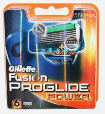 6x Gillette Fusion Proglide Power 6er OVP Gilette Gilete razor blades no 8 12 16