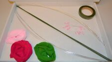Stocking Flower Making Kit- 3 Nylon,Wire,Stem,Pollens,Green Tape,Instruction