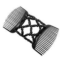 Fermagli per capelli con perline doppie Pettini per fermagli per panini elastici