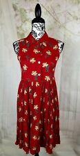 Dressing Clio womens floral print dress 1/2 button down sleeveless size ps bb02