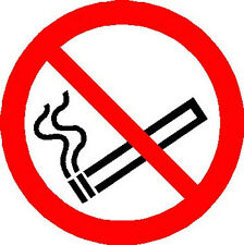 2 x No Smoking double sided window stickers 85mm diameter FREE P&P