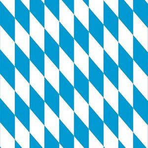 Toile Cirée Nappe Table au Mètre P8074-1 Bavarois Losange Carré Rond Oval