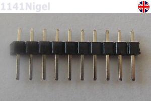 10 Pin Cabeza Broches Tira PCB 0.3cm 2.54mm para Arduino, Placa de Pruebas