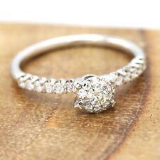 Large Diamond Engagement Ring #20 Affordable Diamond Ring 18K White Gold