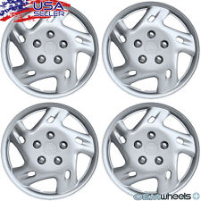 "4 NEW OEM SILVER 14"" HUBCAPS FITS HYUNDAI SUV CAR ABS CENTER WHEEL COVERS SET"