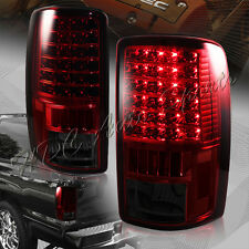 For 2000-2006 Chevy Tahoe Suburban 1500 2500 LED Red/Smoke Rear Tail Lights Lamp
