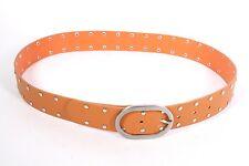 G3-131 Basic Gürtel Leder orange 95 cm Nietengürtel Hosengürtel NEU