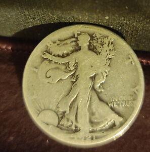 1921 D (Denver) American THE Key Date GD Good Walking Liberty Half Dollar
