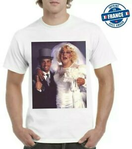 tee shirt Coluche Thierry Le Luron  humoristique  mariage just maried