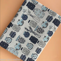 50x150cm Cotton Linen Fabric DIY ZAKKA Home Deco Table Cover Print Bottles E