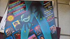 """LP 12"""" DISCO SUMMER NIGHT VG+/EX SANDRA SILVER POZZOLI DEN HARROW BAD BLUE BOYS"""