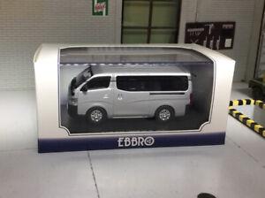 1:43 Scale Model Nissan NV350 Van DX 2012 Silver MPV Caravan Ebbro Diecast Taxi