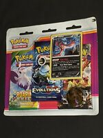Pokemon- XY- 2017- 3-Booster Blister Pack- Yveltal Promo- New with Tracking!!!