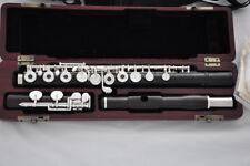 Professional Ebony wooden Flute C foot silver key wood case 16 key open holes