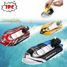 3 Pack Inflatable Yacht Boat Children's Bath Toys Pool Motorboats Inflators Usa
