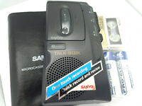 Sanyo TRC-520M Talk Book MicroCassette Voice Recorder Dictaphone Dictation Black