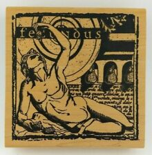 """RARE Stampers Anonymous U112 Goddess of FERTILITY 'FECUNDUS' 4"""" sq Stamp NEW"""