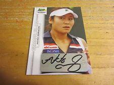 Akiko Morigami Autographed 2013 Ace Authentic Grand Slam #BAAM1 Card WTA Tennis