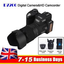 POLO D7200 33MP Full HD Digital Camera DSLR Camcorder & LED Spotlight & 3 Lens