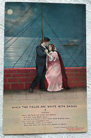 When the Fields are White with Daisies 2 Postcard Bamforth Song Card 4503/2 VTG