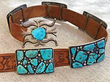 New ListingAmazing! Navajo Sterling Silver & Turquoise Old Pawn Concho Belt Dene T Bini