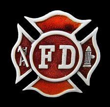 FD FIRE DEPT FIREMAN FIREMEN FIREFIGHTERS COOL BELT BUCKLE BOUCLE DE CEINTURES