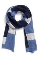 Nordstrom Halogen 100% Cashmere Stripe Colorblock Knit Scarf Muffle MSRP $99