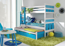 Bunk Bed ELSA with Mattresses TRIPLE CHILDREN'S SLEEPER KIDS Custom Colours 3in1