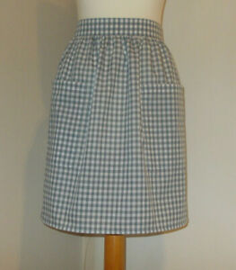 New 'Grey Gingham ' Vintage Style Half / Waist Apron/Pinny