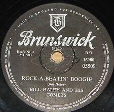 BILL HALEY ~ ROCK-A-BEATIN BOOGIE b/w BURN CANDLE ~ 78 RPM E EXCELLENT GRADE