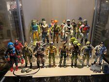 1980's-90's Vintage GI Joe Cobra Lot Of 20 Original Figures With Accessories