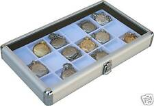 2 Pocket 18 Watch Show Case Display Antique Jewelry Supply box  pocket watches